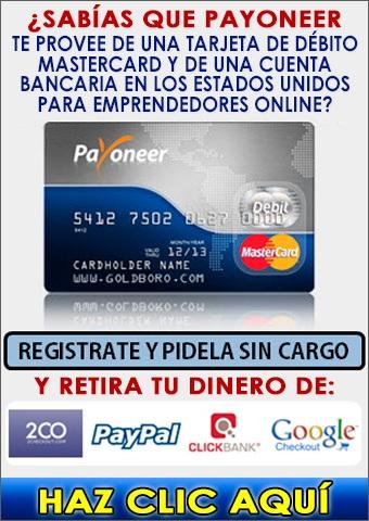 Solicita tu Tarjeta Payoneer y tu Cuenta Bancaria en Estados Unidos