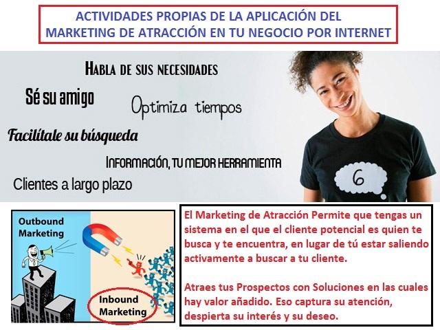 El Marketing de Atraccion en los Negocios por Internet